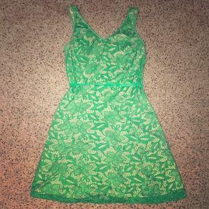 New York & Company Green Lace Dress